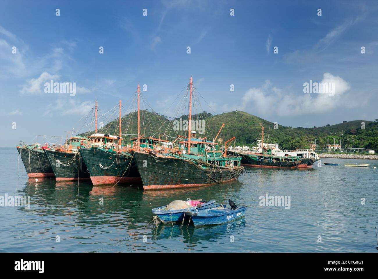 Tai o harbour fishing village, Lantau Island Hong Kong, China. - Stock Image
