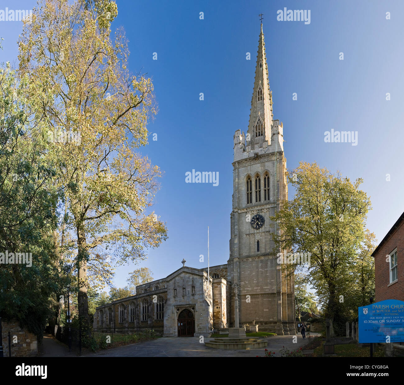The Parish Church of St. Peter and St. Paul in Kettering, Northamptonshire, UK - Stock Image