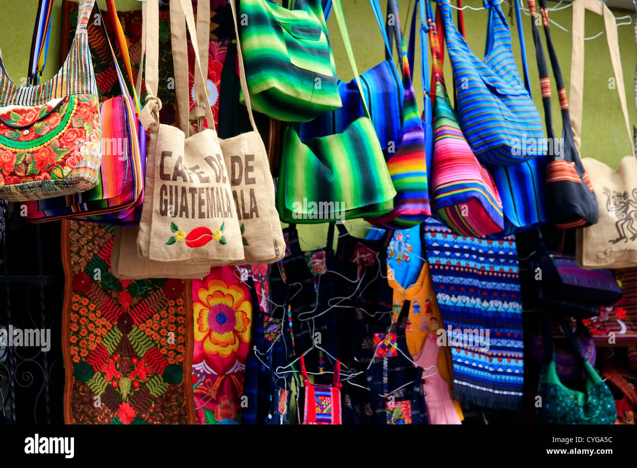 Bags for sale in Guatemala - Stock Image