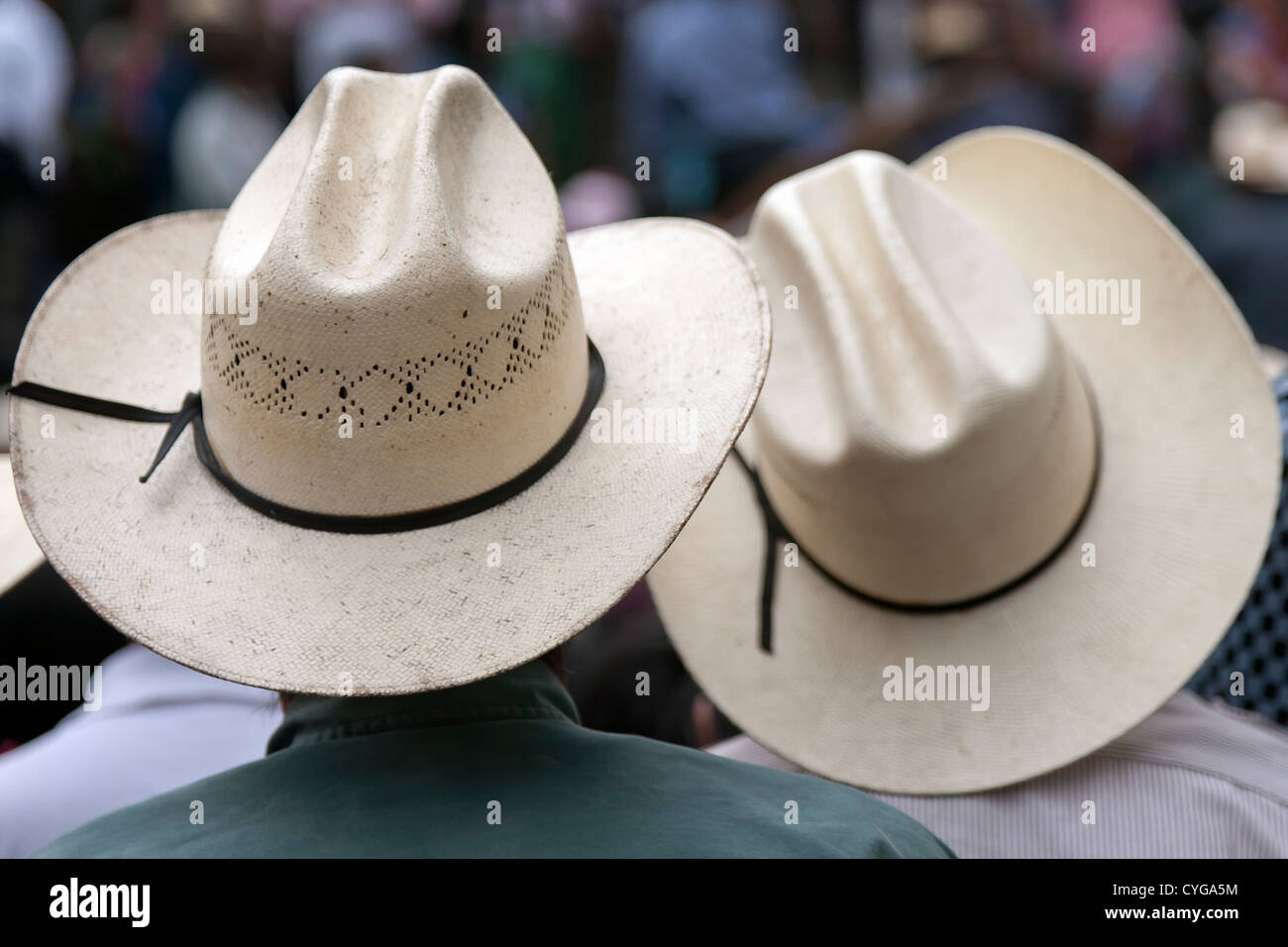 Traditional straw hat - Stock Image