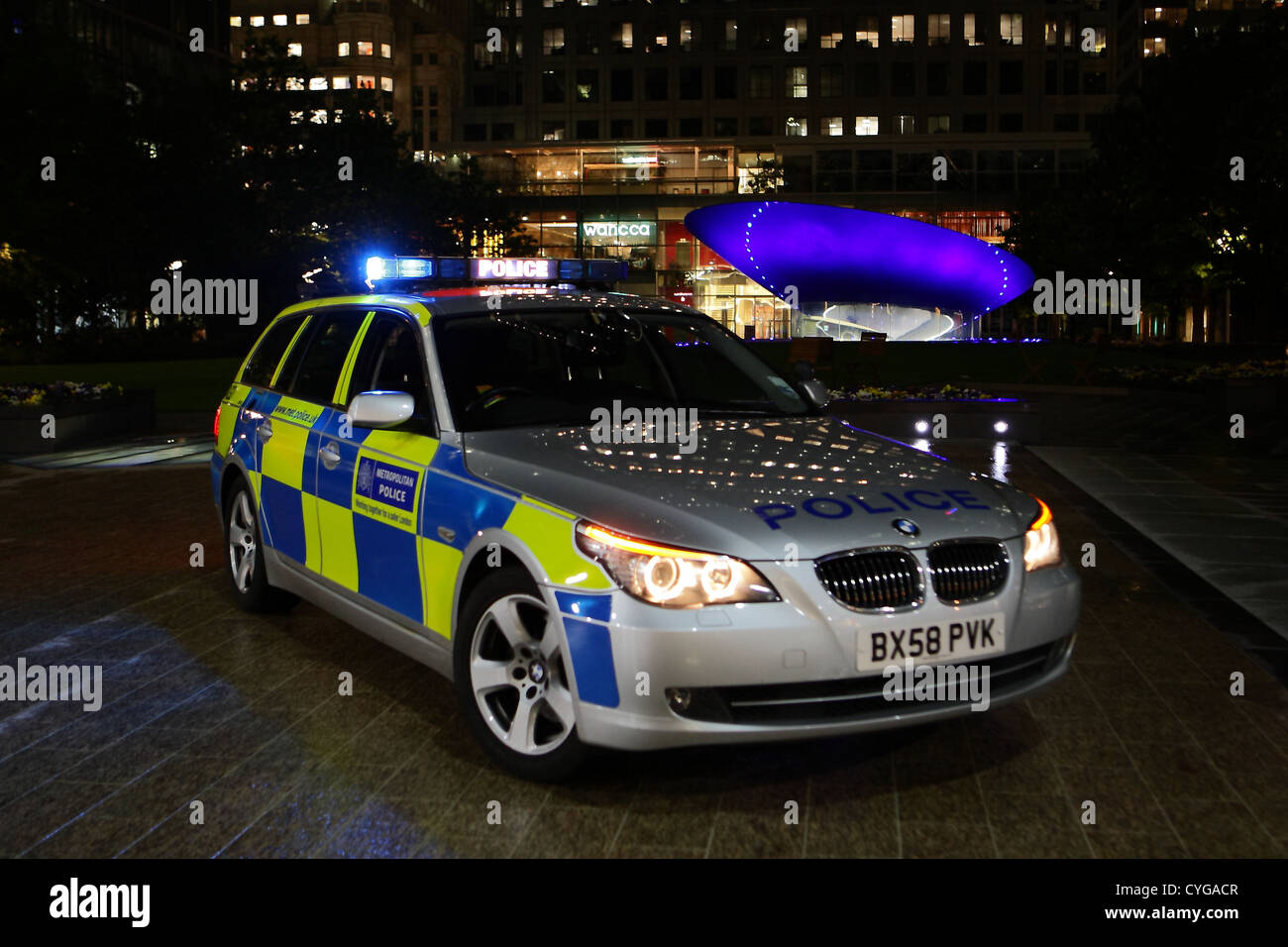 Metropolitan Police BMW traffic car Stock Photo