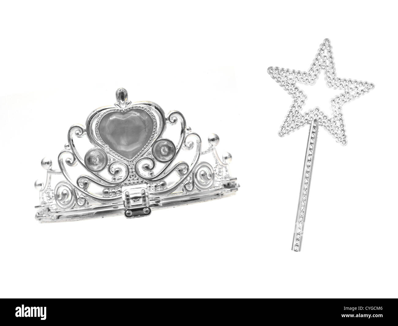A tiara isolated against a white background - Stock Image