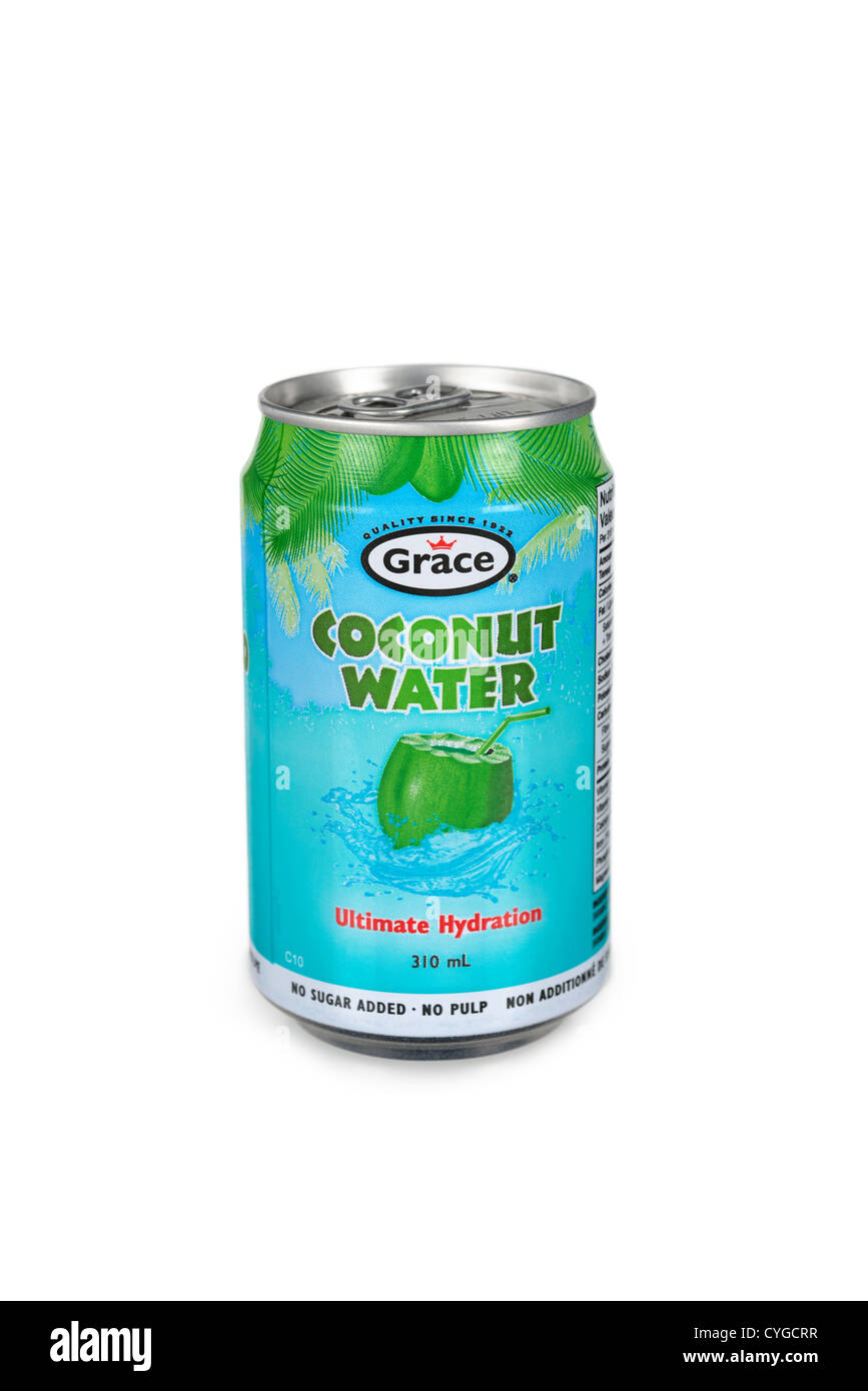 Coconut Water, Can - Stock Image
