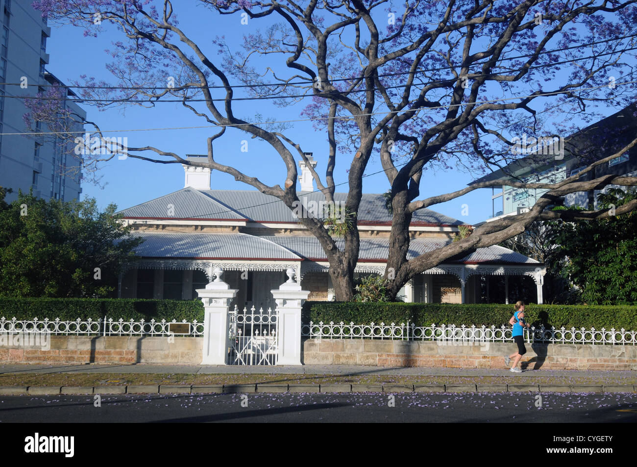 Classic architecture of The Moreton Club in Moray St, New Farm, Brisbane, Queensland, Australia. No MR or PR - Stock Image