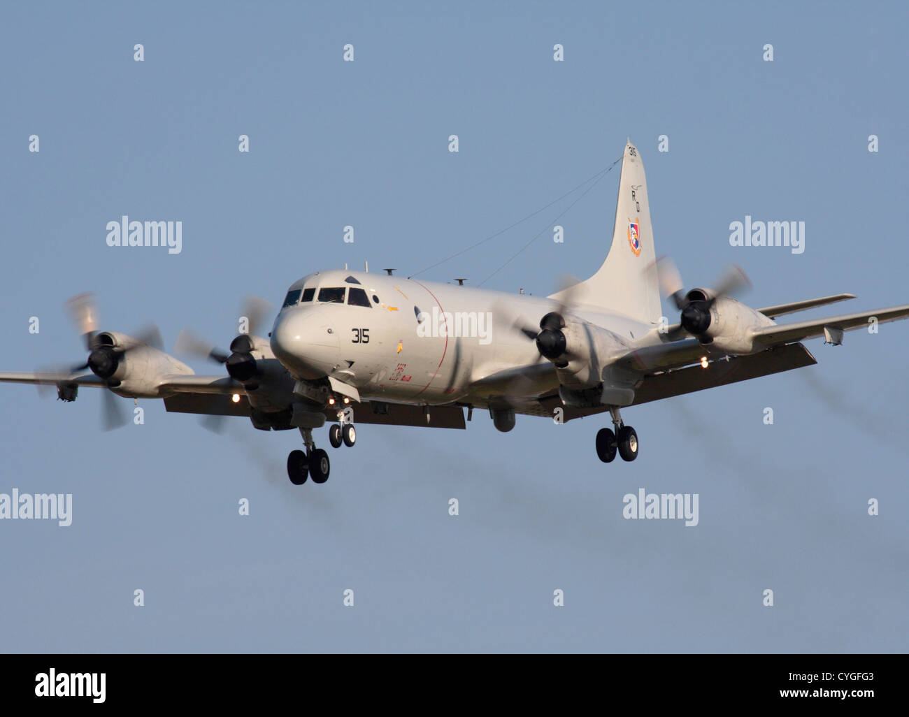 us navy lockheed p 3c orion anti submarine patrol plane trailing
