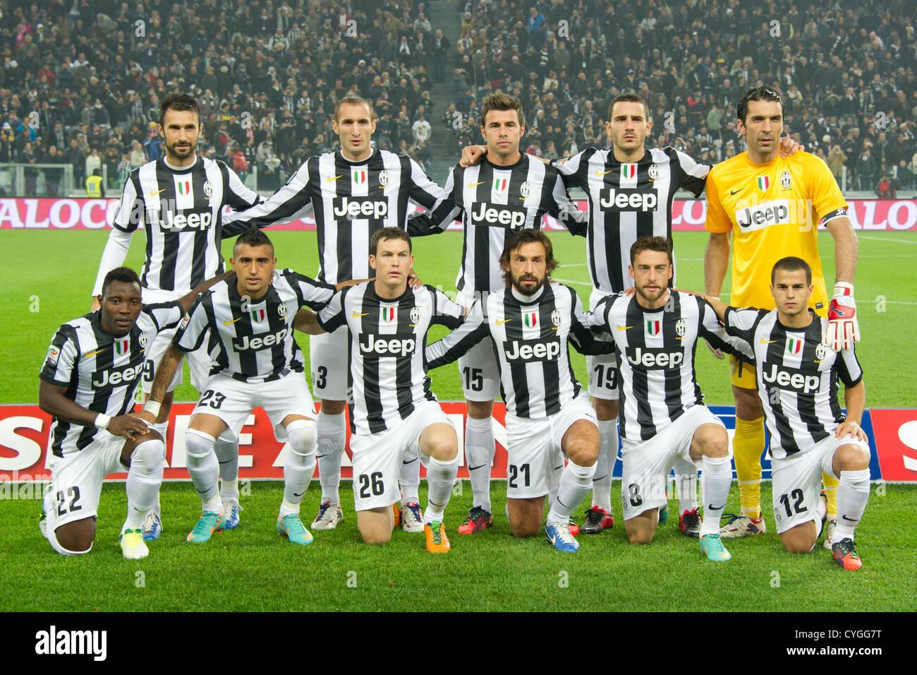 Juventus team group line-up, NOVEMBER 3, 2012