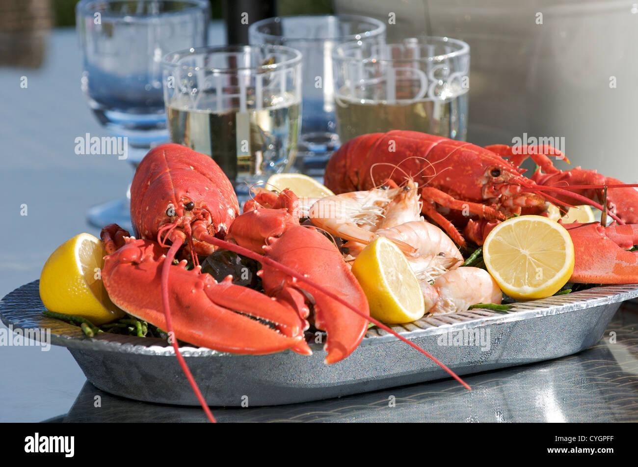 Lobster platter - Stock Image