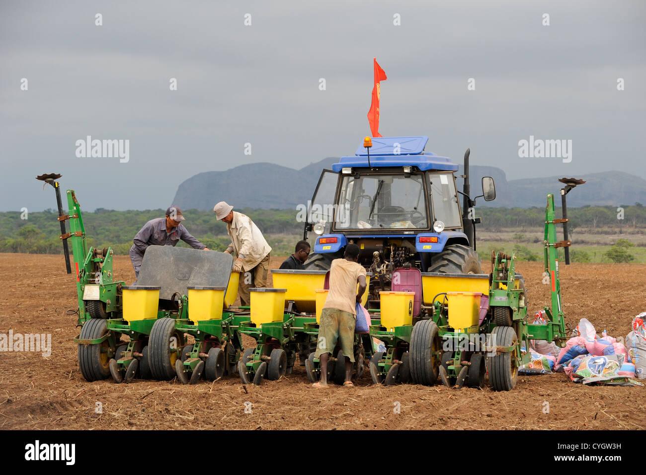 Africa ANGOLA, Malanje, ANGOLA Malange , PAC Pòlo Agroindustrial de Capanda, Black Stone Farm, a 20.000 hectare Stock Photo