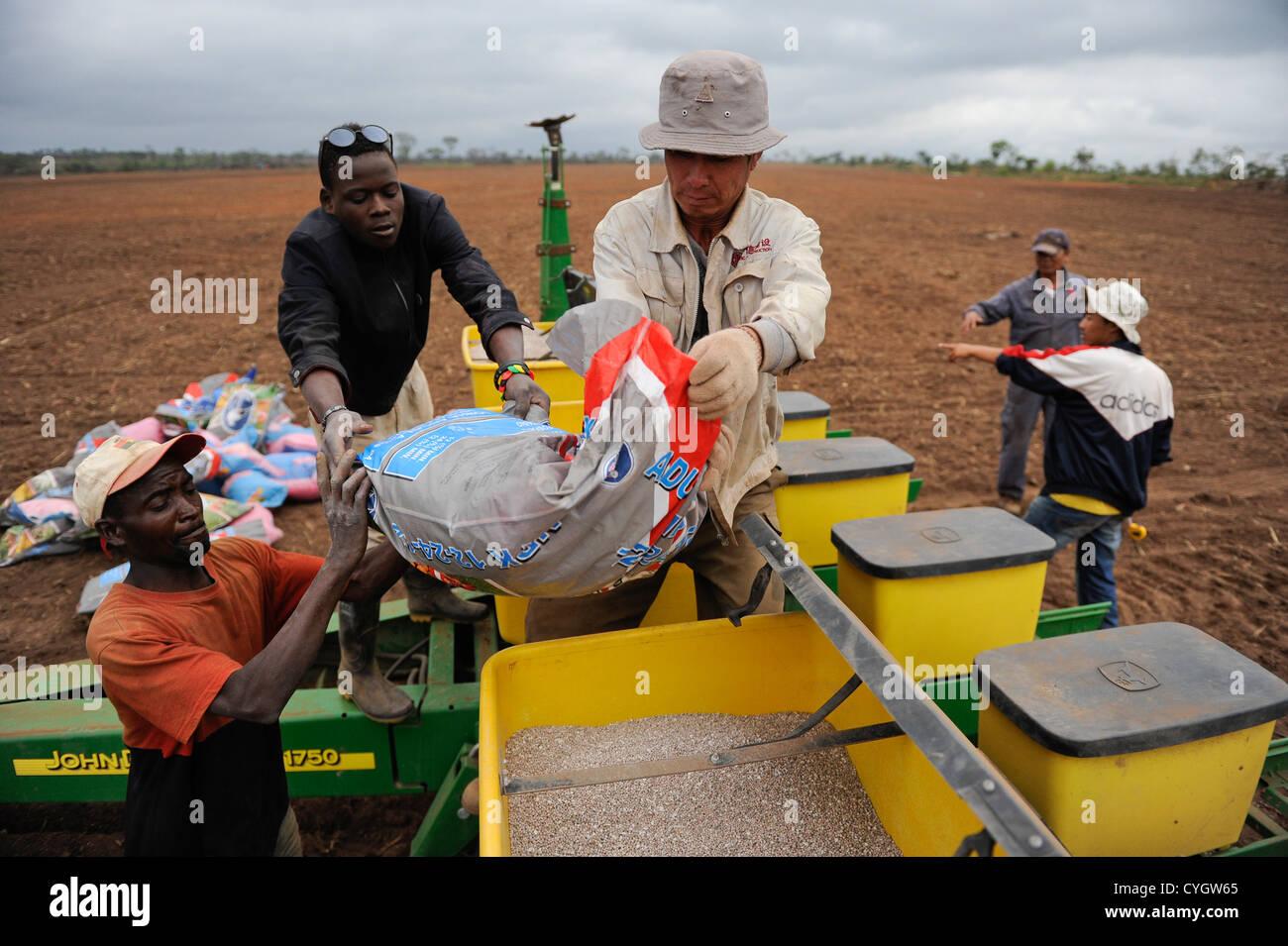 Africa ANGOLA, Malanje, ANGOLA Malange , PAC Pòlo Agroindustrial de Capanda, Black Stone Farm, a 20.000 hectare - Stock Image