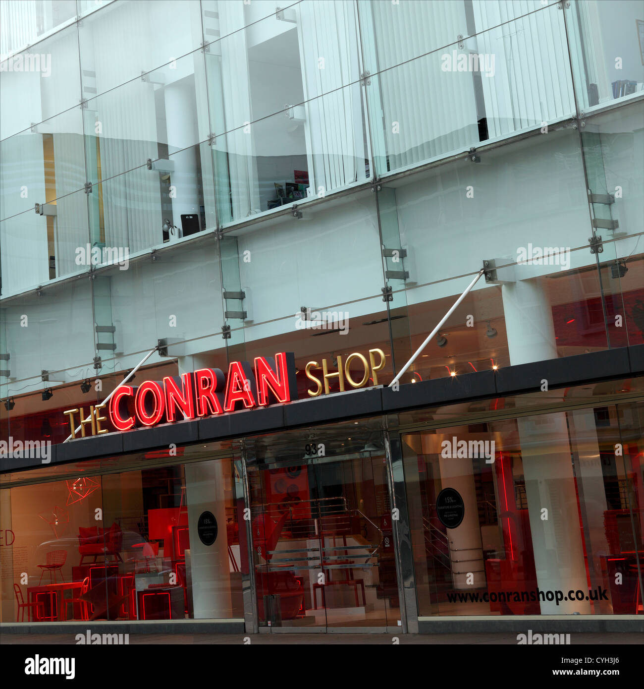 The Conran Shop Popular Modern Design Retail Outlet In Sloane Stock