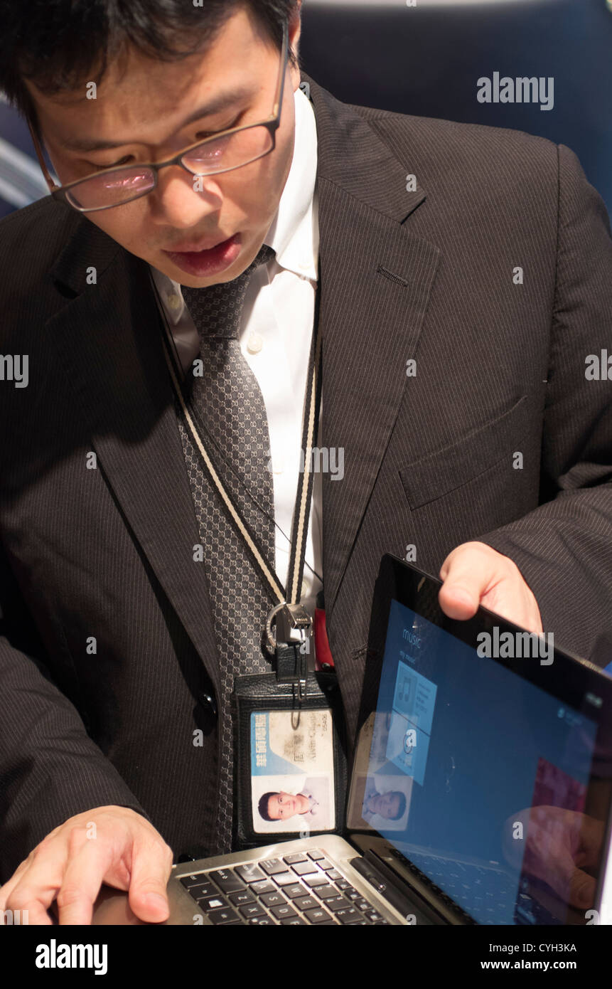 ASUS show new displays in Computex 2012. Transformer book, Taichi and Ai0 (All in One). - Stock Image