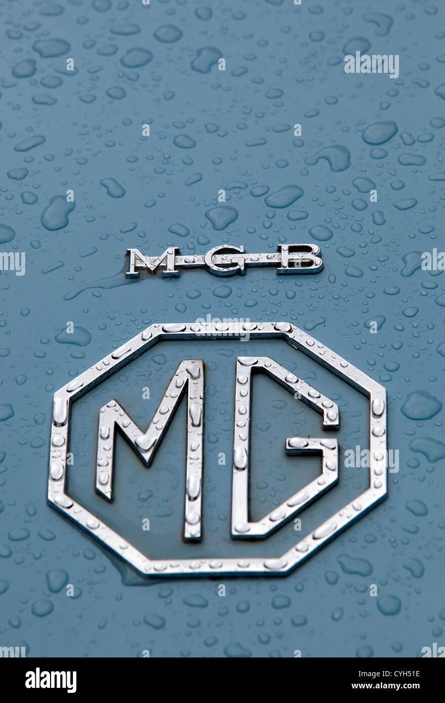 MGB car badge - Stock Image