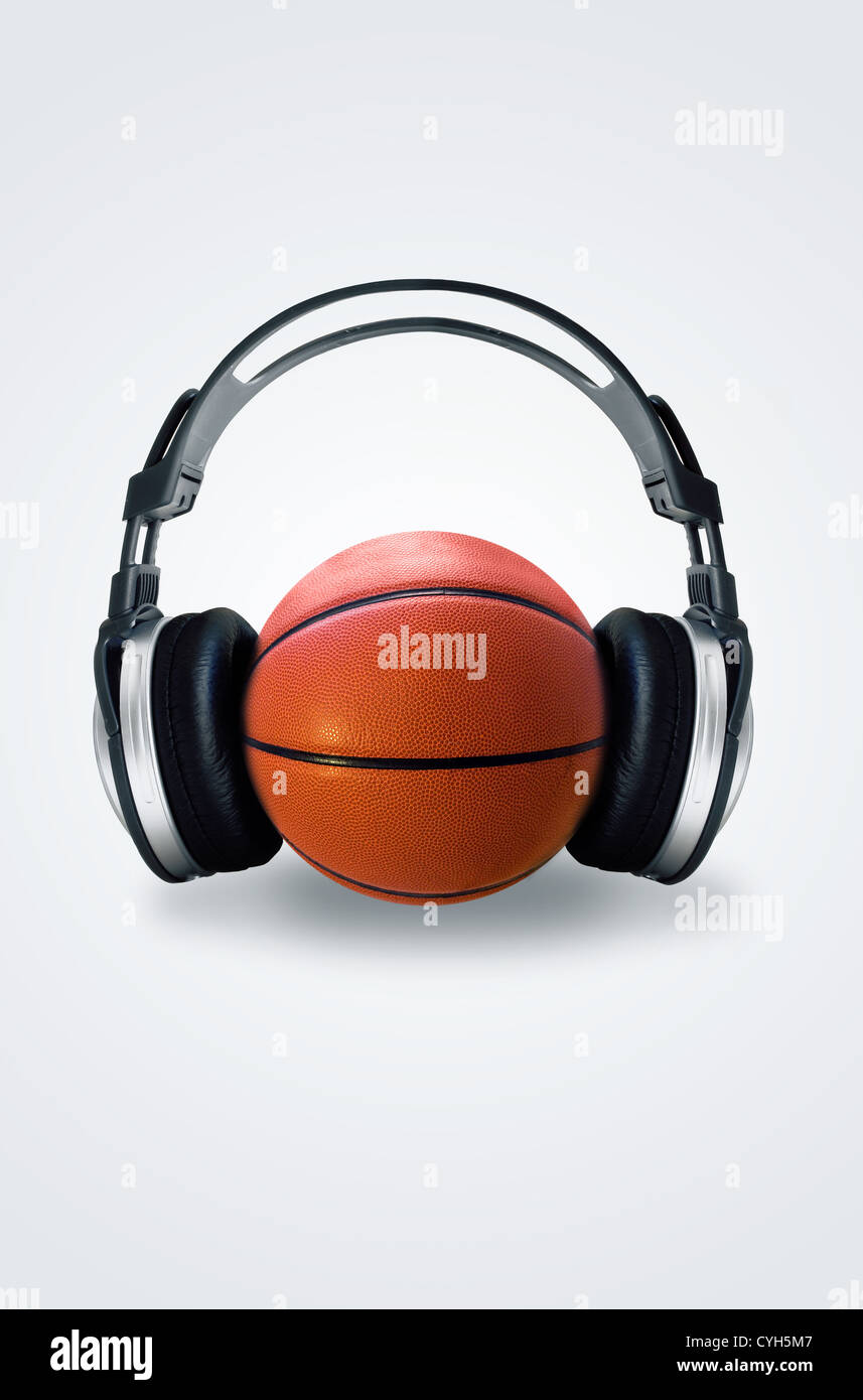 Listen to the ball - Stock Image