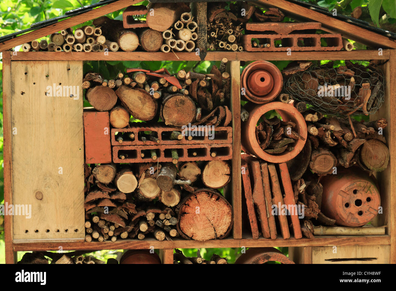 Insect hotel // Abri à insectes - Stock Image