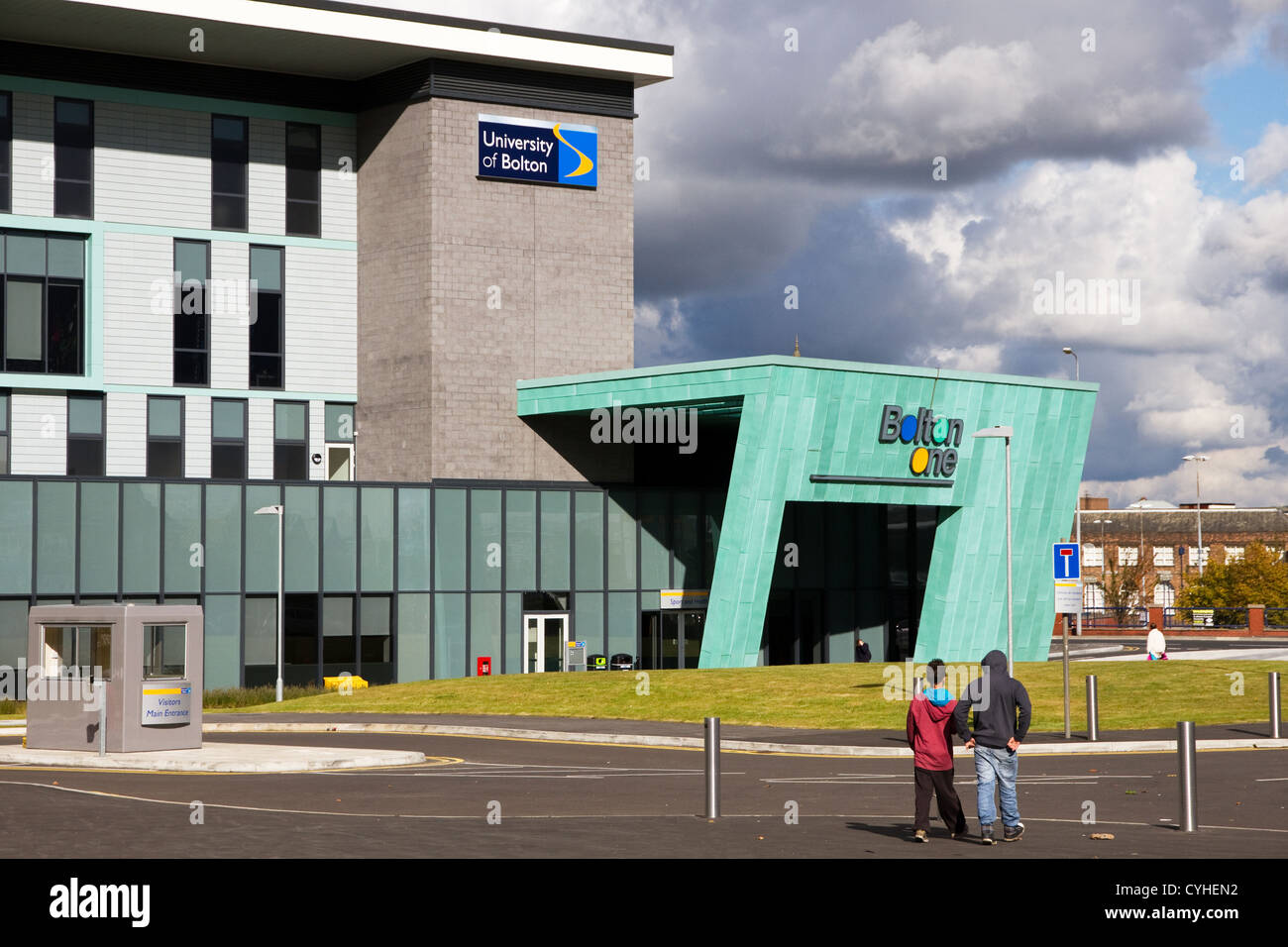 New Bolton One building, health, leisure and research centre, (University of Bolton + NHS + Council), Bolton, Gtr - Stock Image