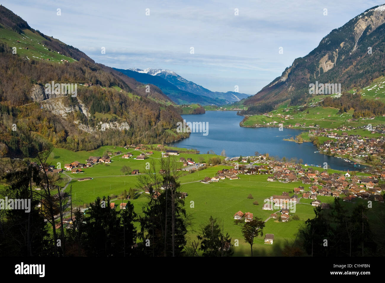 Switzerland, Canton Obwalden, Lungern, landscape Stock ...