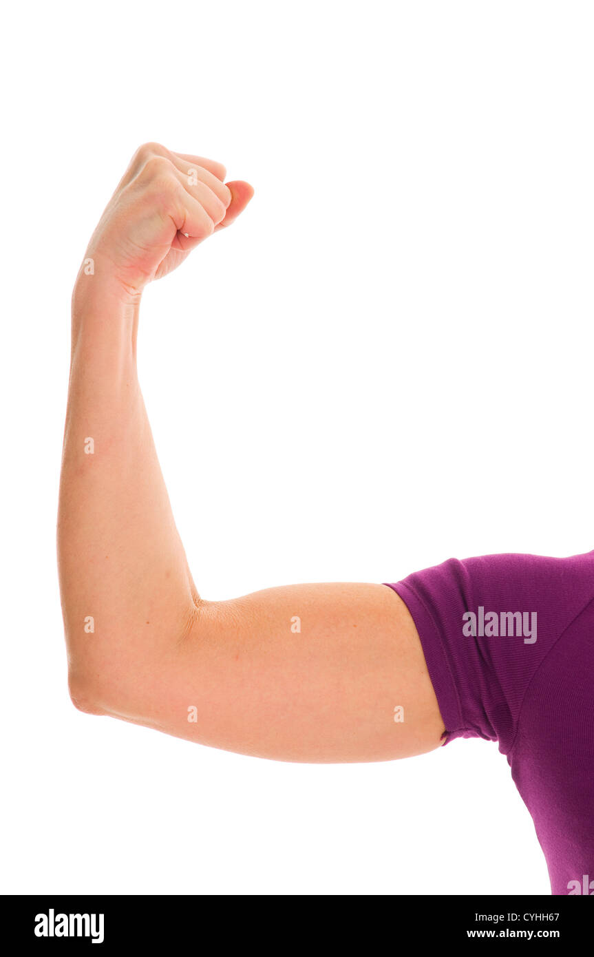 biceps of a woman - Stock Image