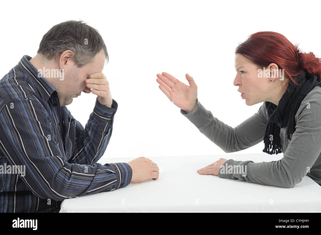 Couple conflict trouble - Stock Image