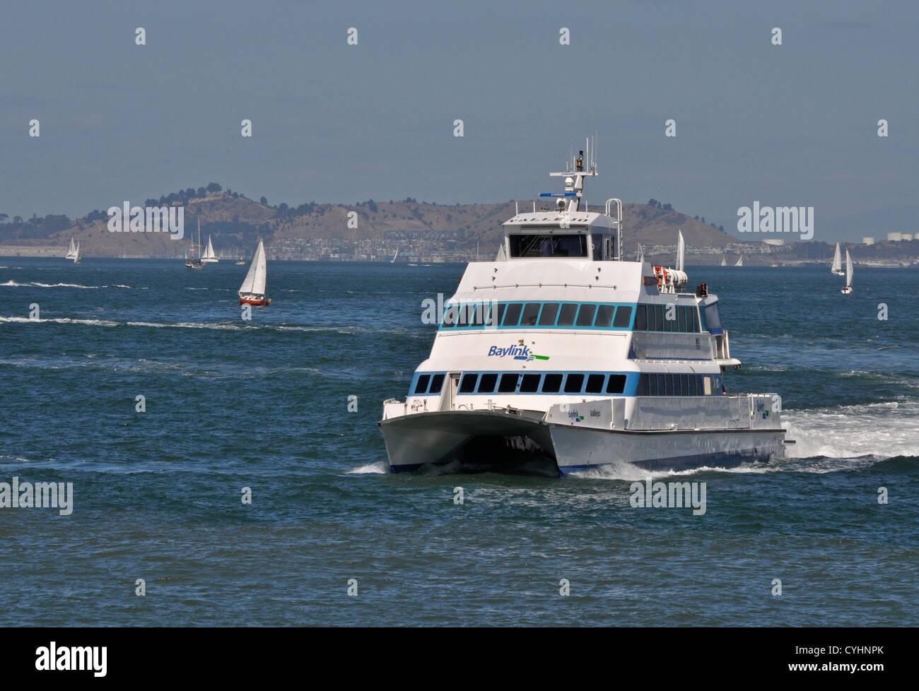 Vallejo Ferry Arrives In San Francisco Stock Photo Alamy