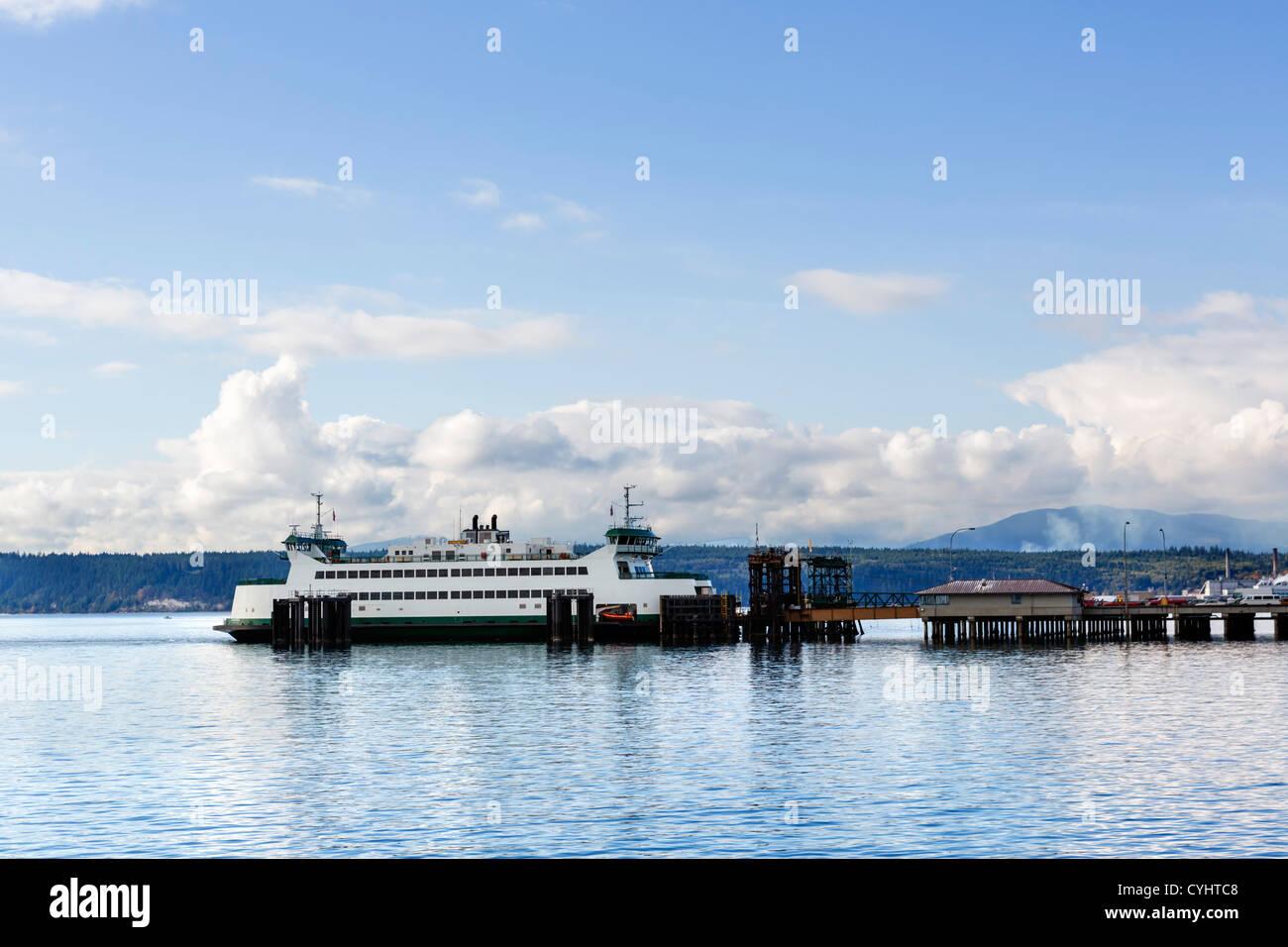 Washington State Ferries ferry at Port Townsend, Olympic Peninsula, Washington, USA - Stock Image