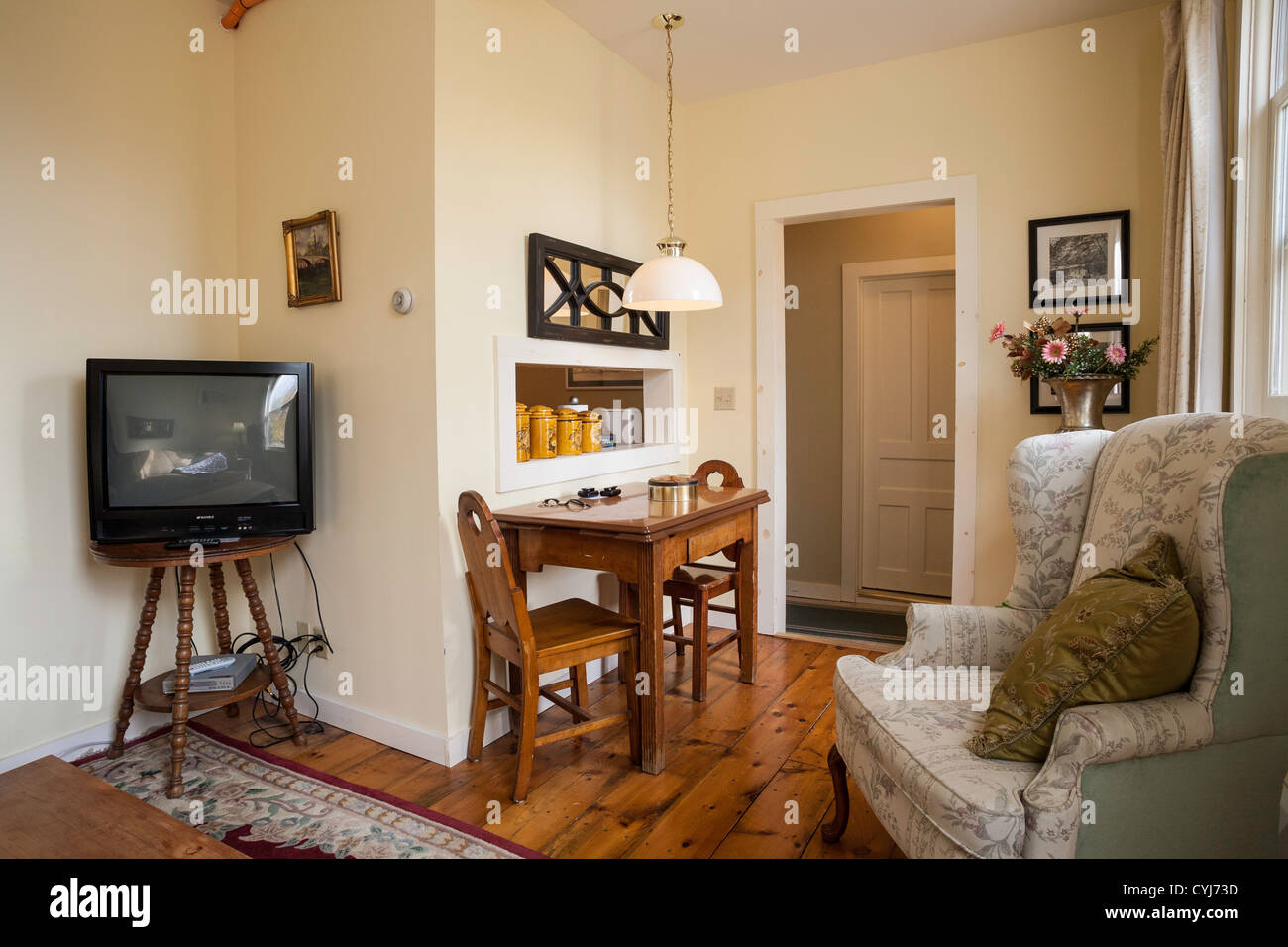 Efficiency Apartment Interior, USA