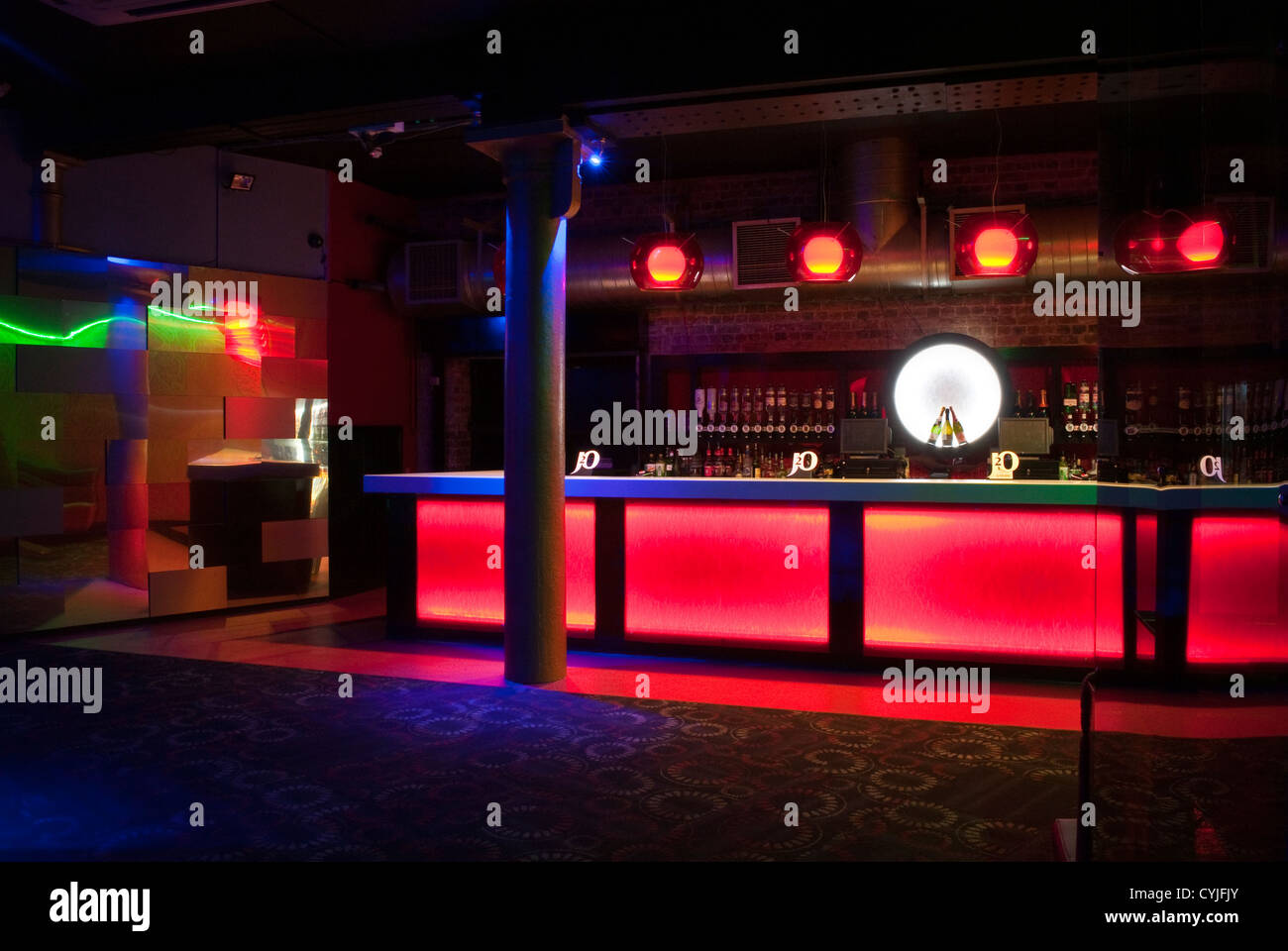 Night Club Bar Area, Interior Design   Stock Image