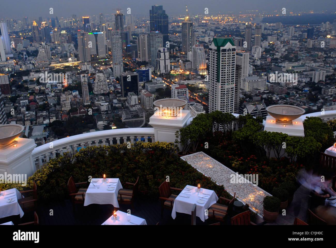 Restaurant, Sirocco, Dome,  State Tower. Bangkok, Sky Bar, Sight, Thailand, Asia - Stock Image
