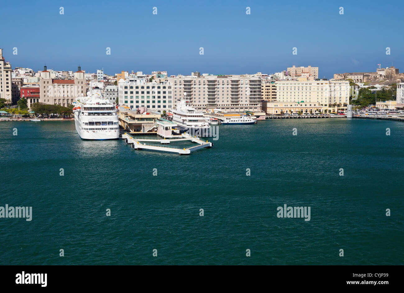 Cruise port, El Morro Castle and City of San Juan, Puerto Rico - Stock Image