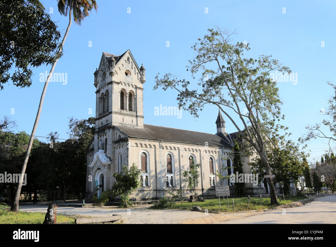 Roman catholic church at the Holy Ghost Mission, built 1914 in Bagamoyo, Tanzania - Stock Image