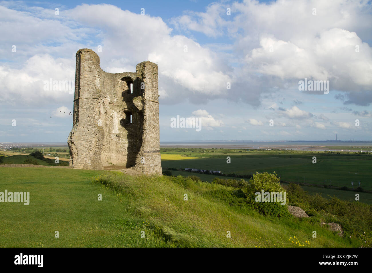 The remains of the south-east tower of Hadleigh Castle in Essex - Stock Image