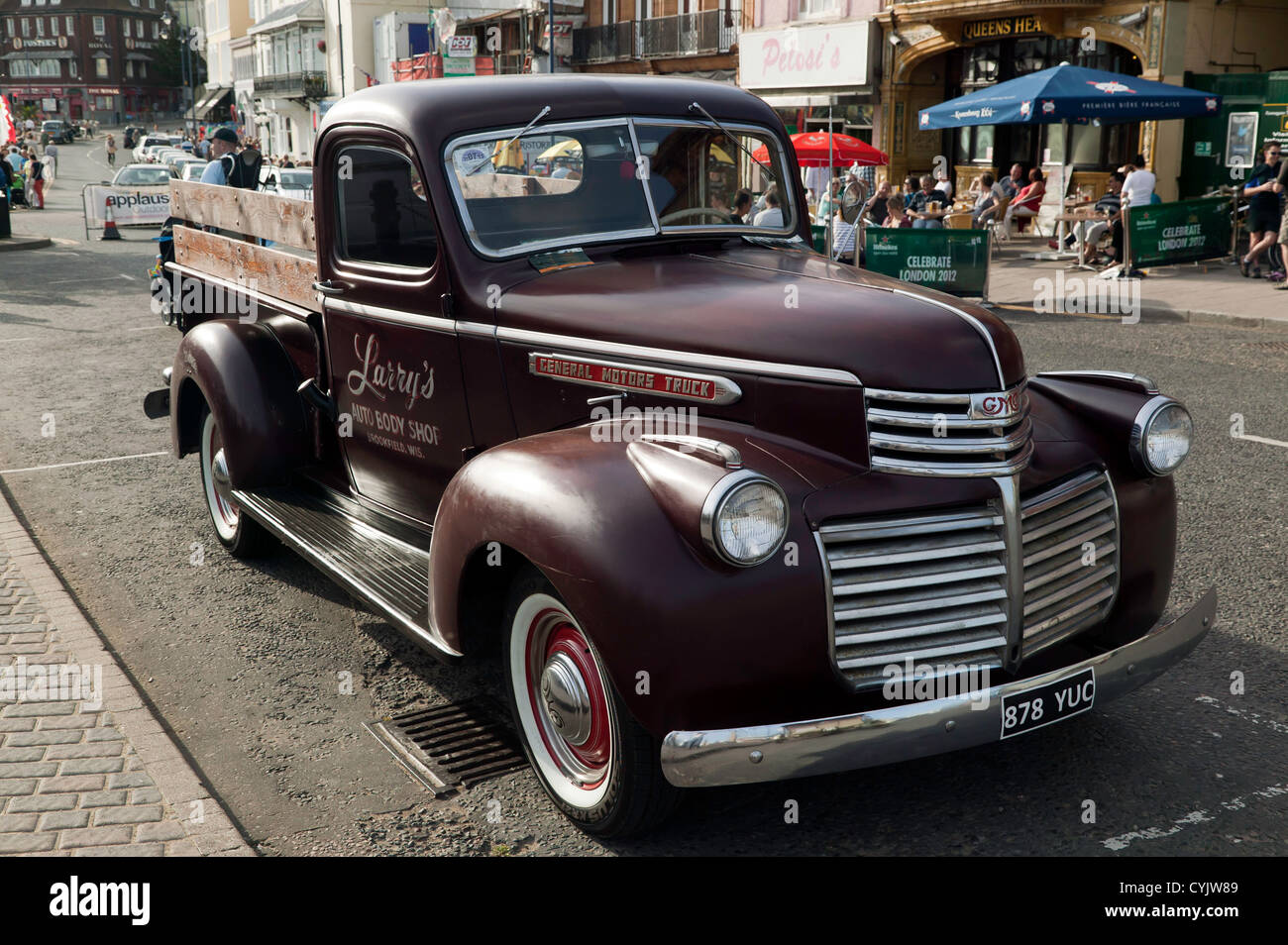 Vintage General Motors Truck on display at the Ramsgate 'Harbour Steam' day 2012 - Stock Image
