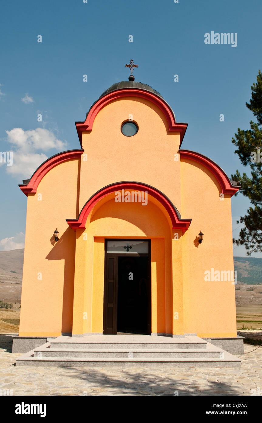 Serbian Orthodox chapel of St John the Baptist near Glamoc, Bosnia and Herzegovina - Stock Image