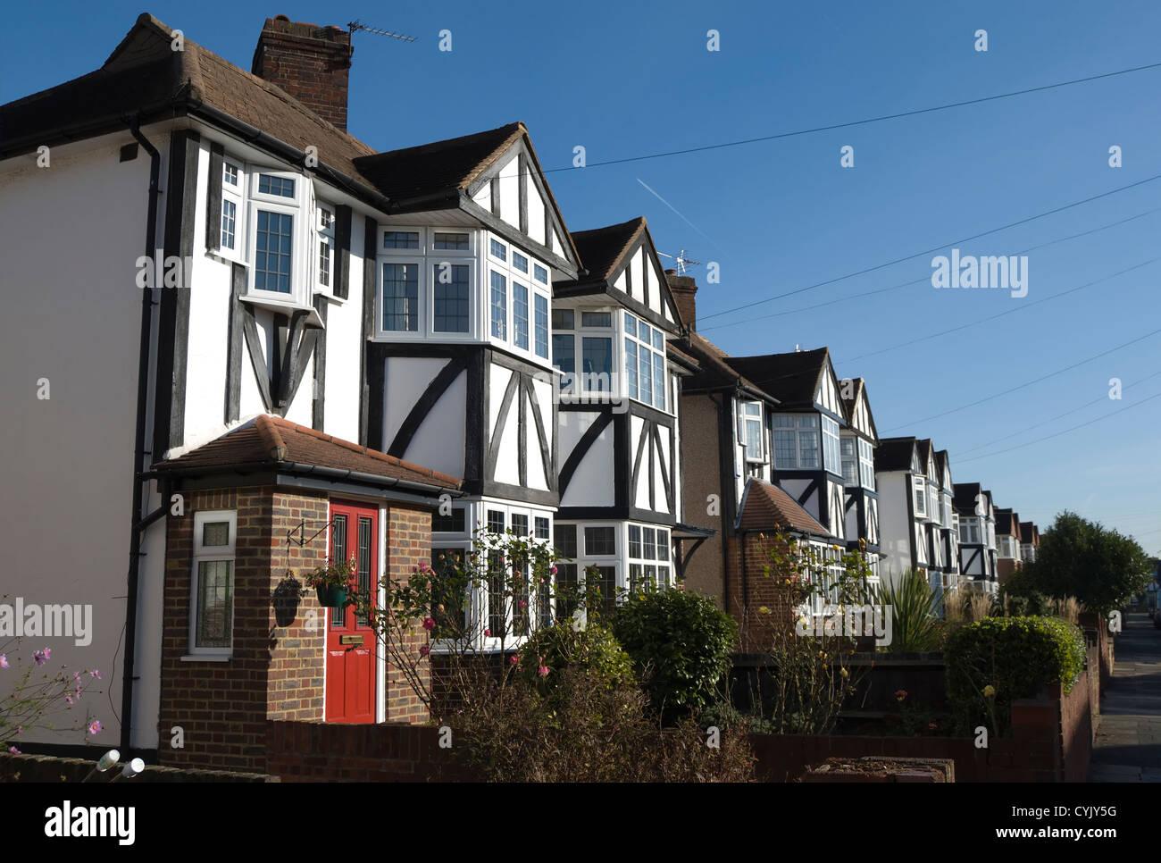 1930s mock tudor houses,  whitton, middlesex, england - Stock Image