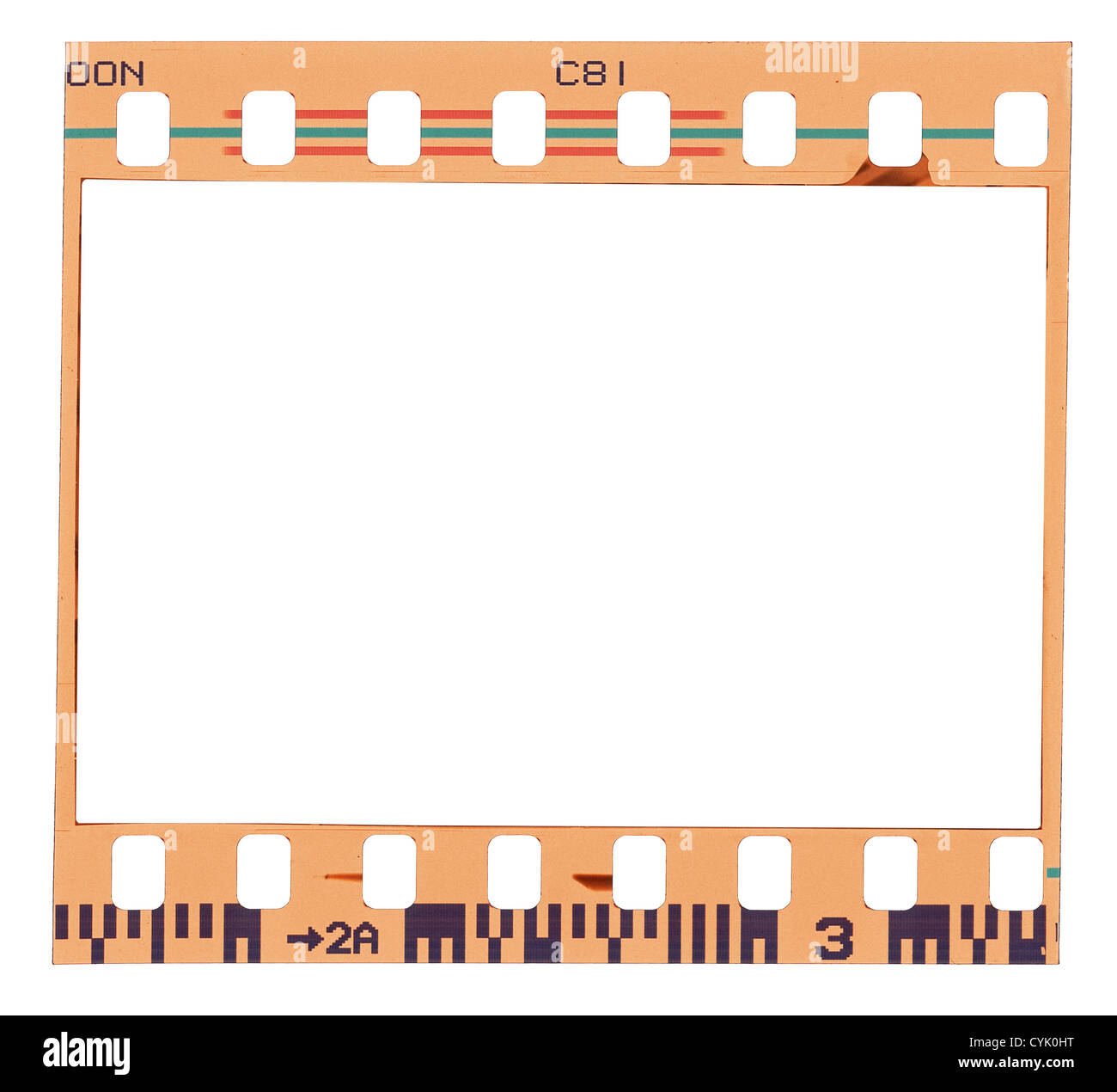Blank color film strip frame Stock Photo: 51434036 - Alamy