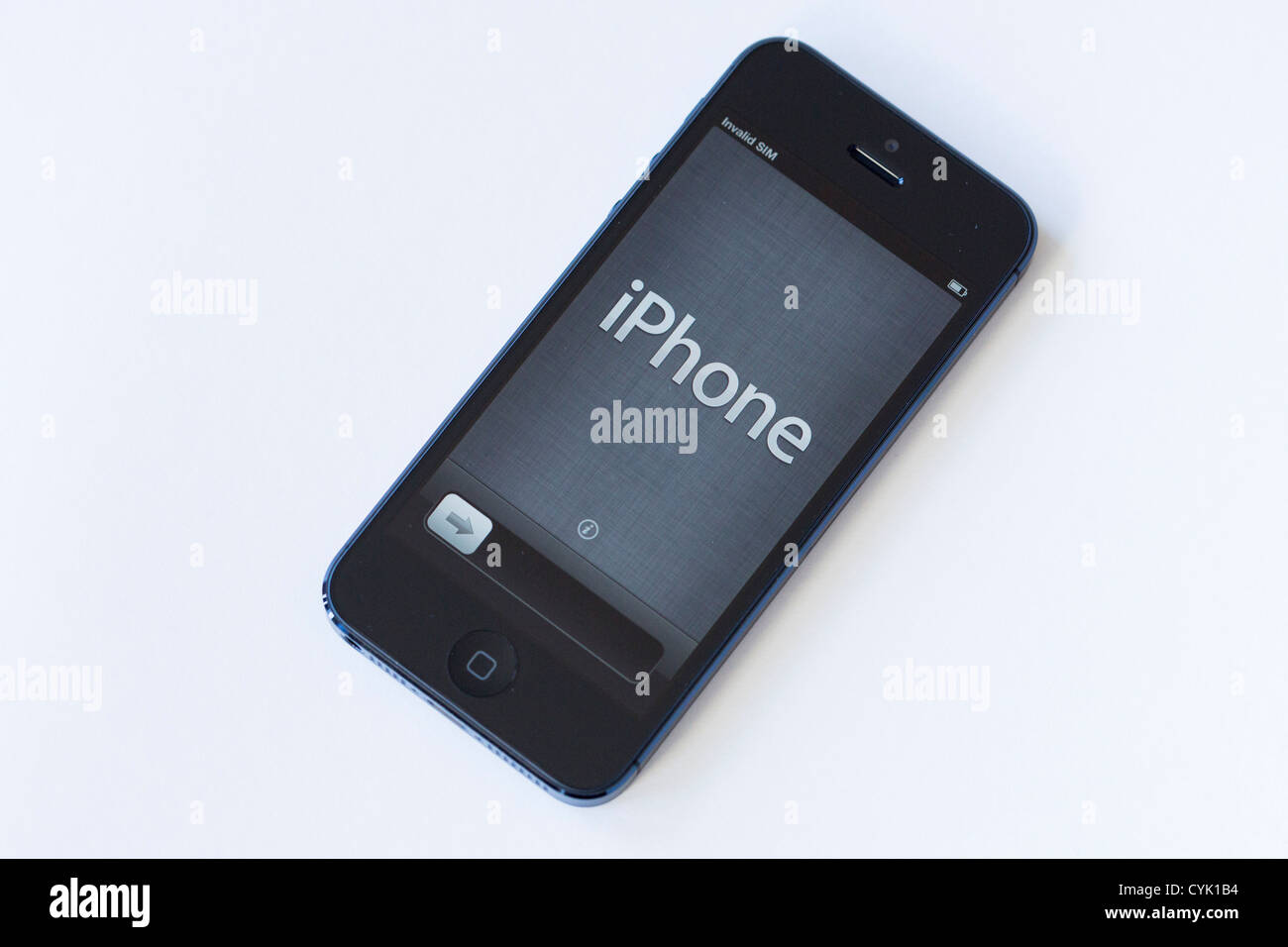 The Apple iPhone 5. - Stock Image