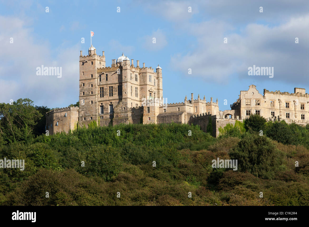 Bolsover Castle in Derbyshire founded by the Peverel family in the 12th century - Stock Image