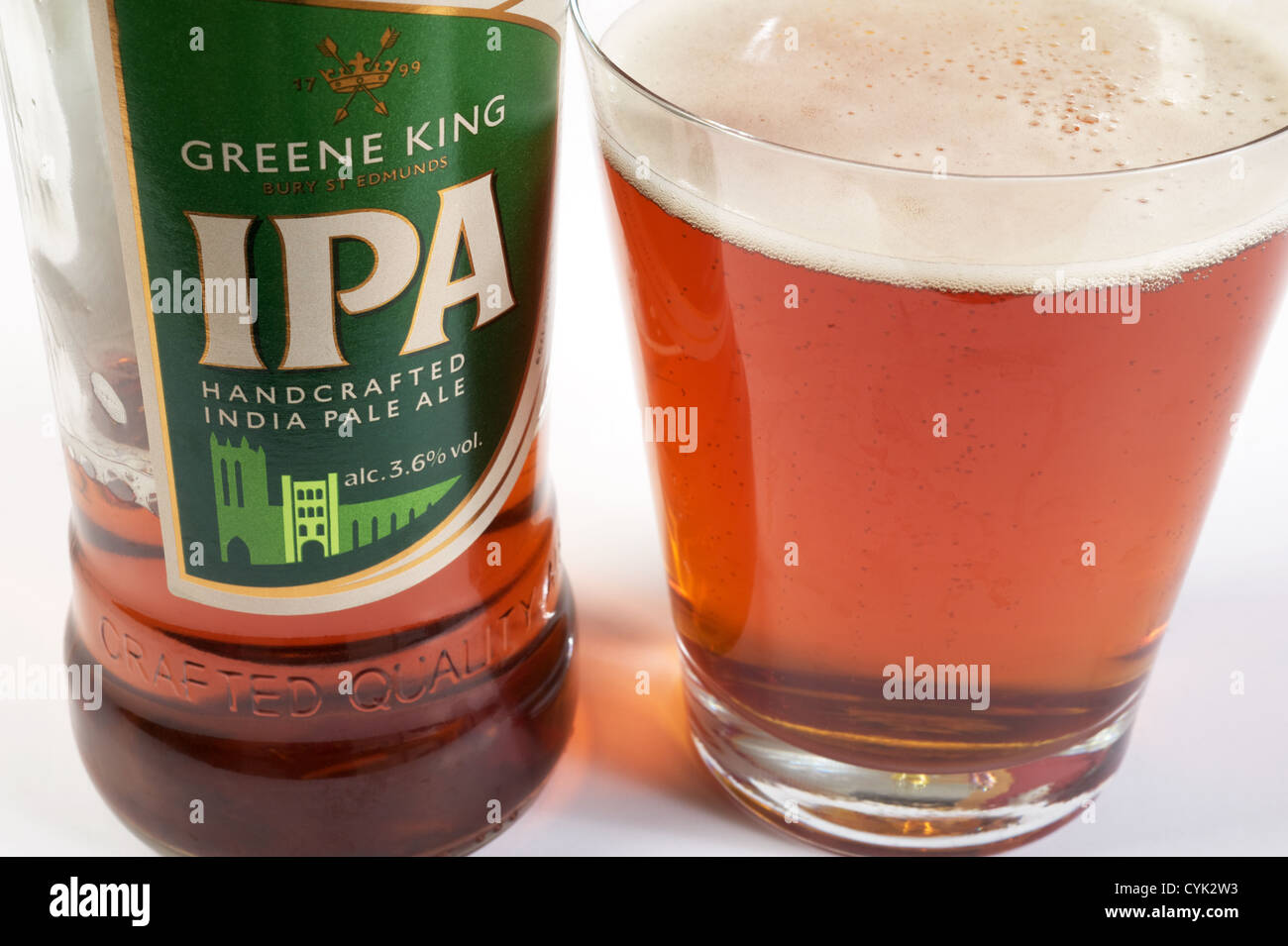 Greene King IPA (India Pale Ale) - Stock Image
