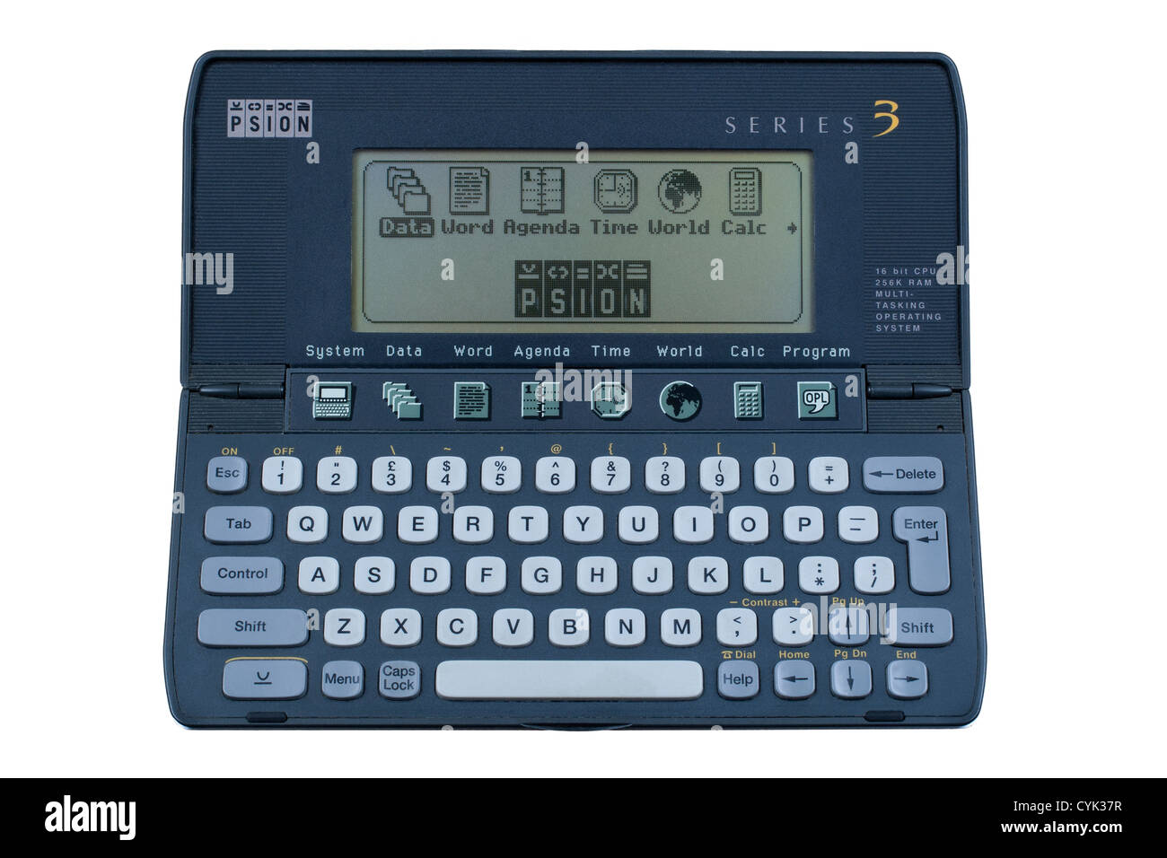 Psion 3 Organiser a hand-held pocket computer - Stock Image