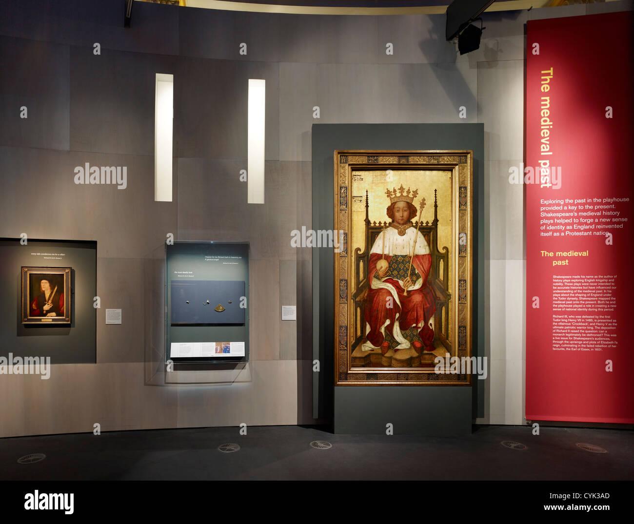 Shakespeare Staging the World Exhibtion, London, United Kingdom. Architect: RFK Architects, 2012. - Stock Image