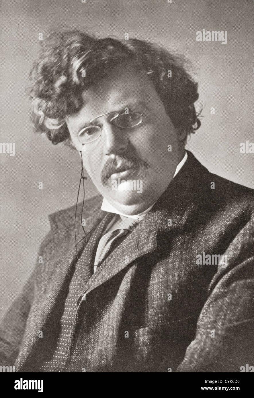 Gilbert Keith Chesterton, 1874 – 1936. English writer. - Stock Image