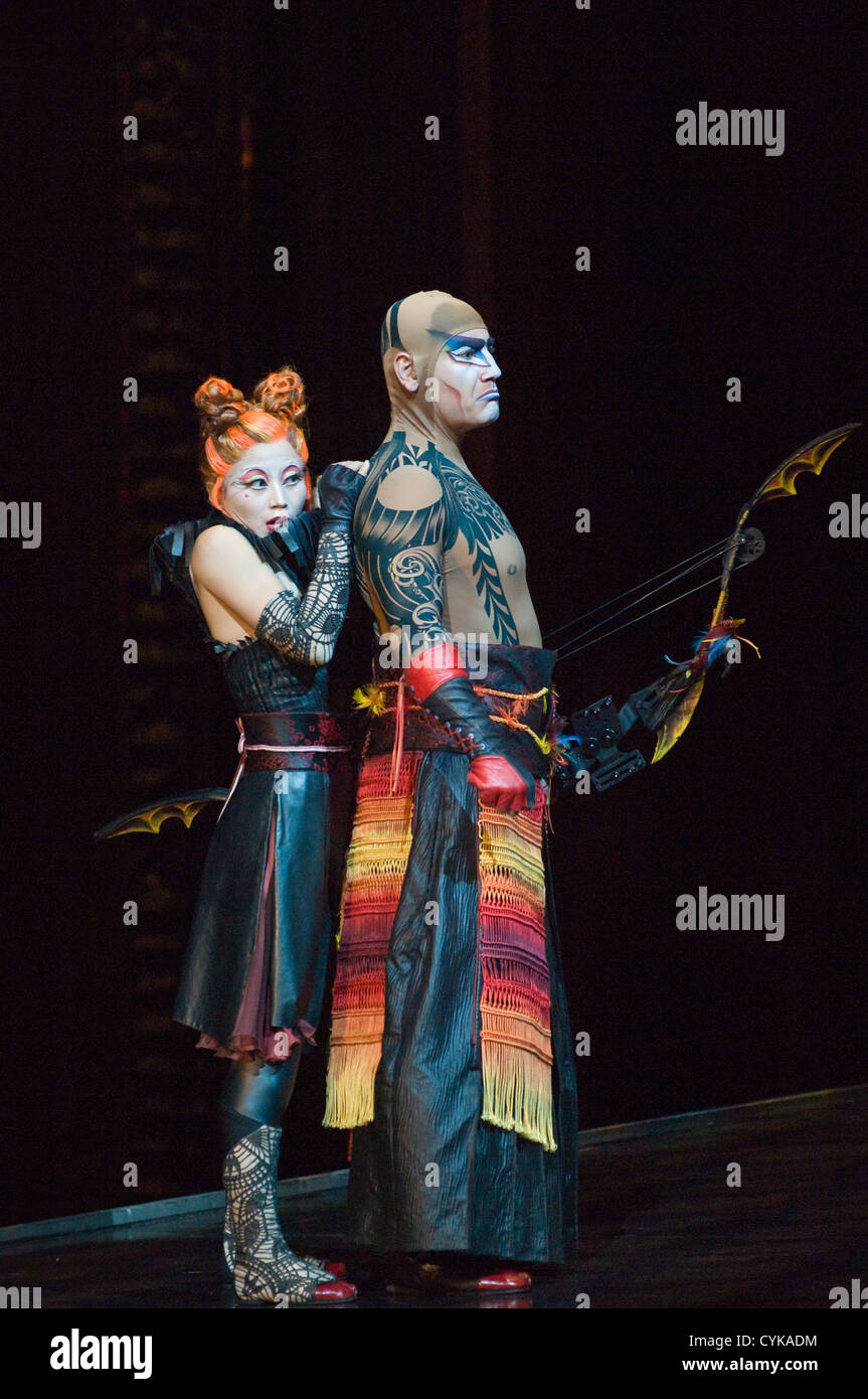 Ka Cirque Du Soleil: Cirque Du Soleil Actors Performing KA In Las Vegas, Nevada