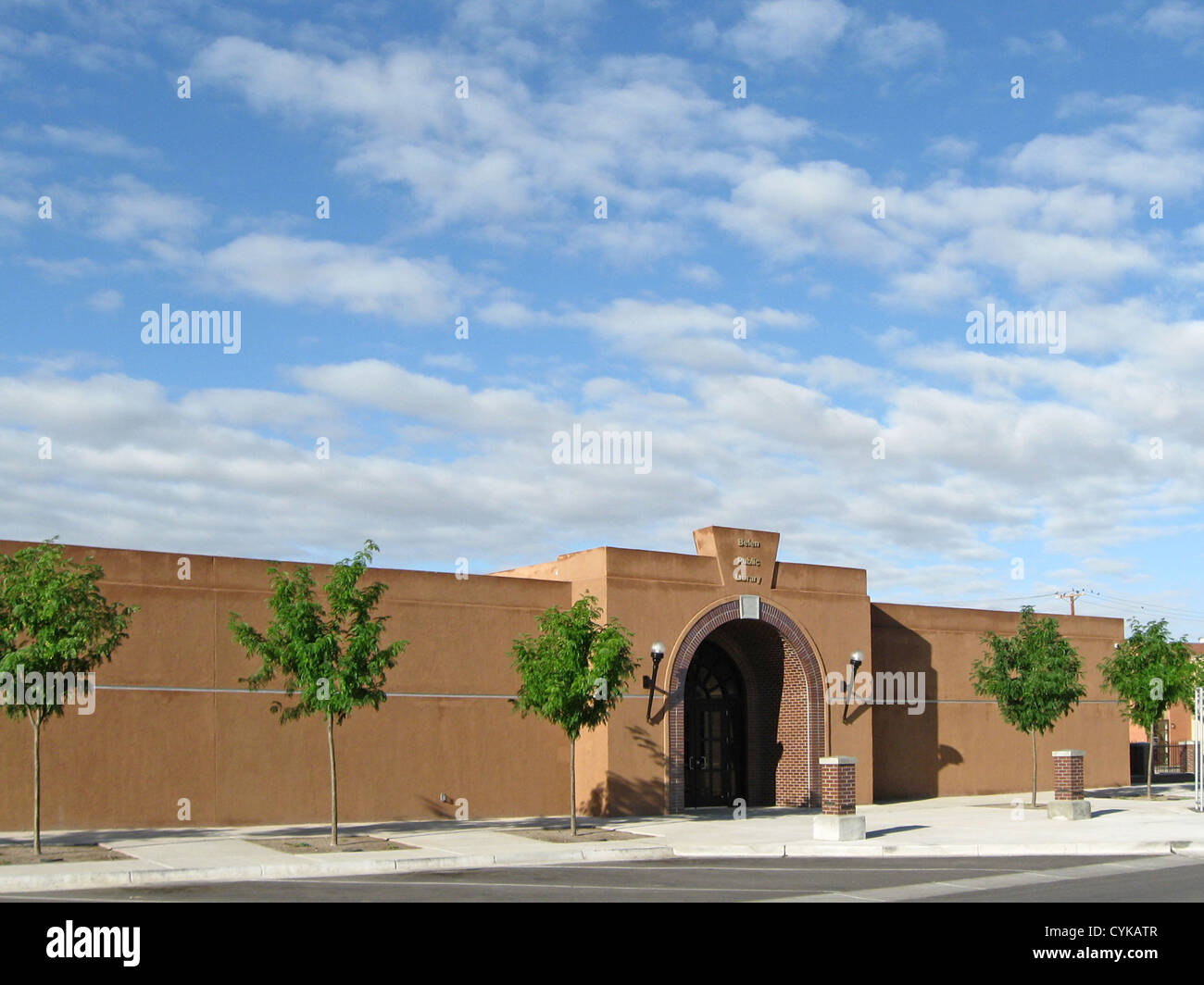 Belen (New Mexico) Public Library, located at 333 Becker Avenue. - Stock Image