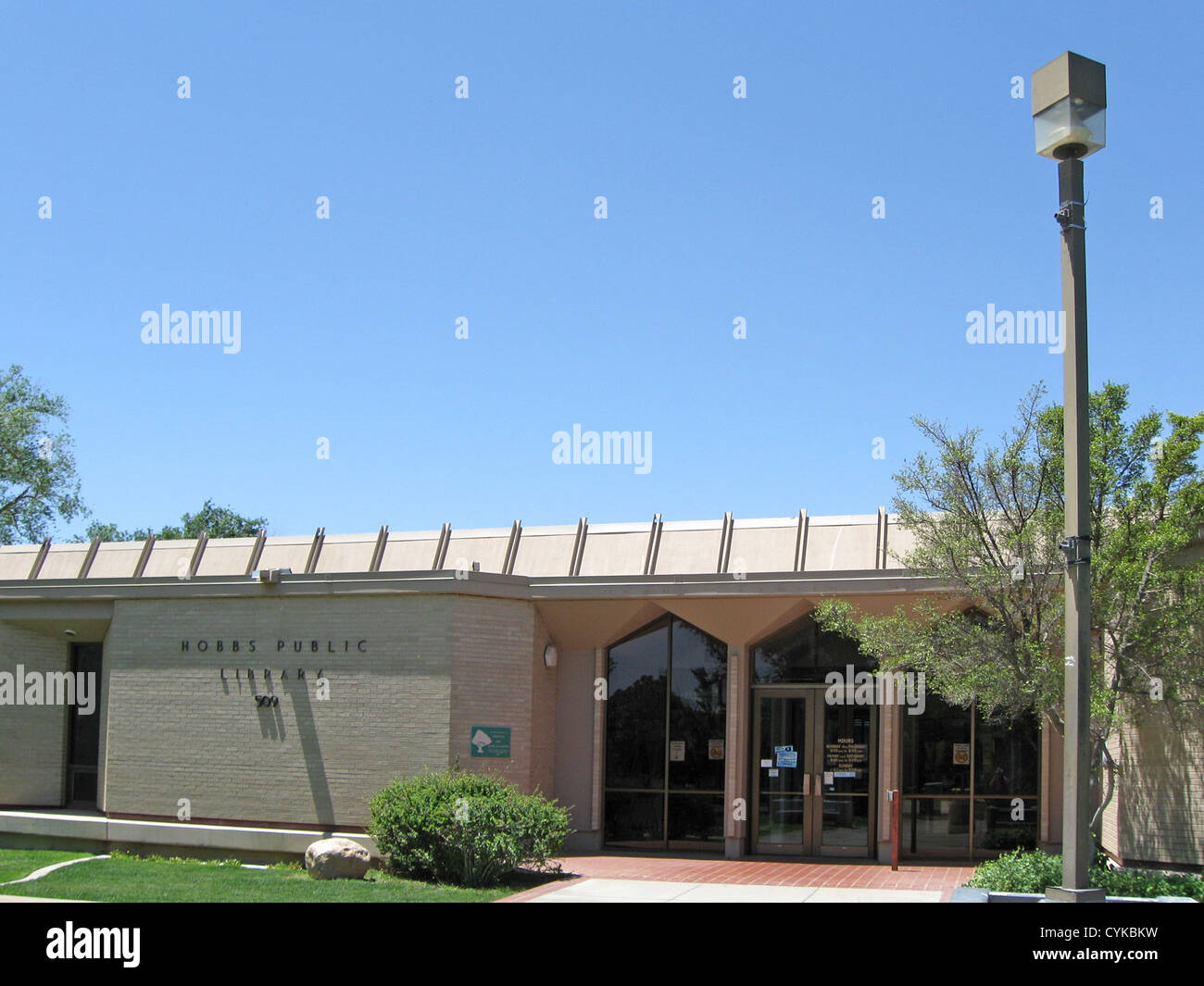 Hobbs (New Mexico) Public Library, located at 509 N. Shipp in Hobbs, New Mexico. - Stock Image