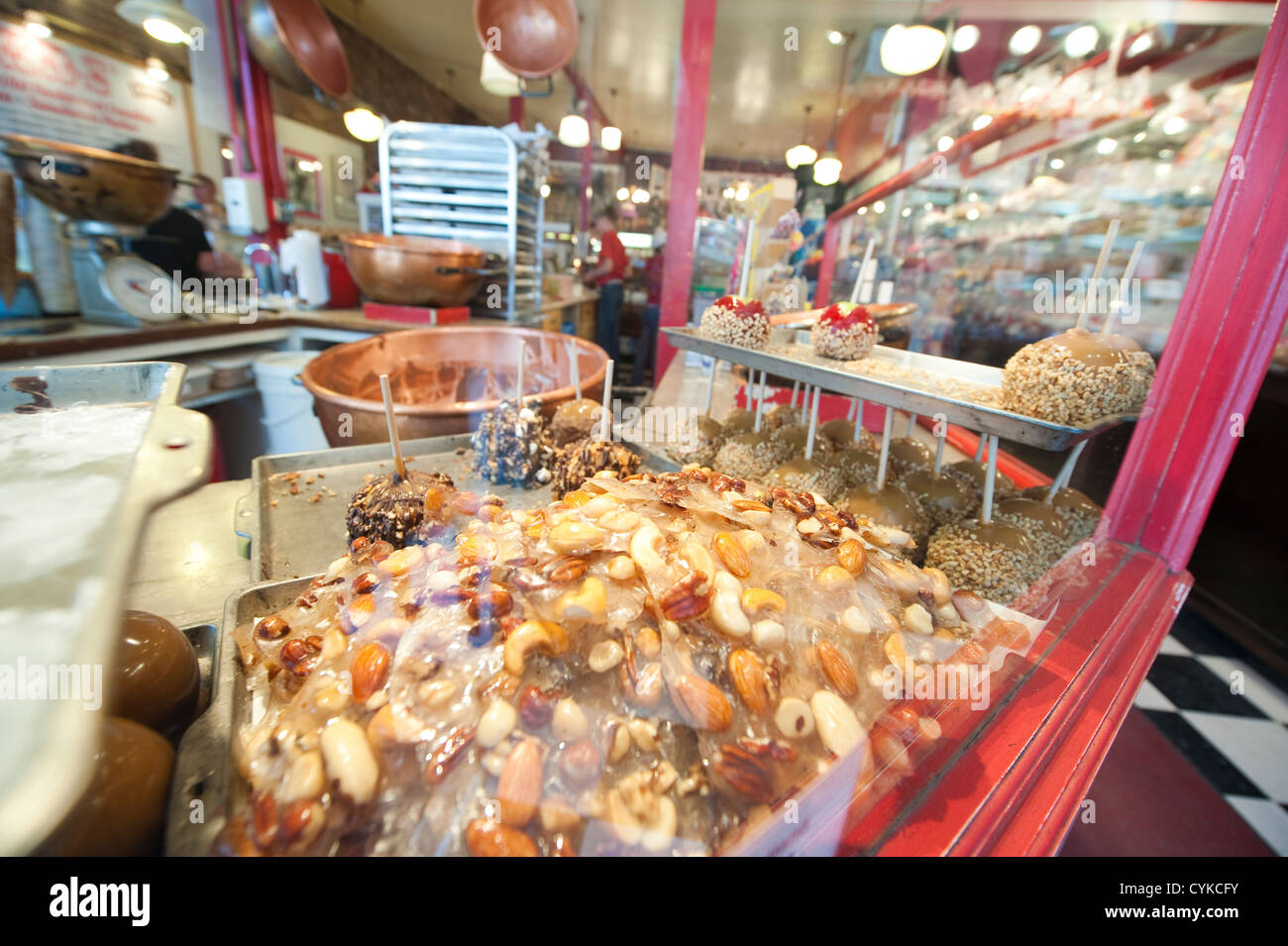 USA, Nevada. Reds candy shop in historic downtown Virginia CIty, Nevada. - Stock Image