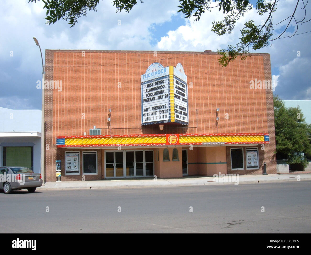 Flickinger Center for Performing Arts in Alamogordo, New Mexico, located at 1110 New York Avenue, showing the box - Stock Image