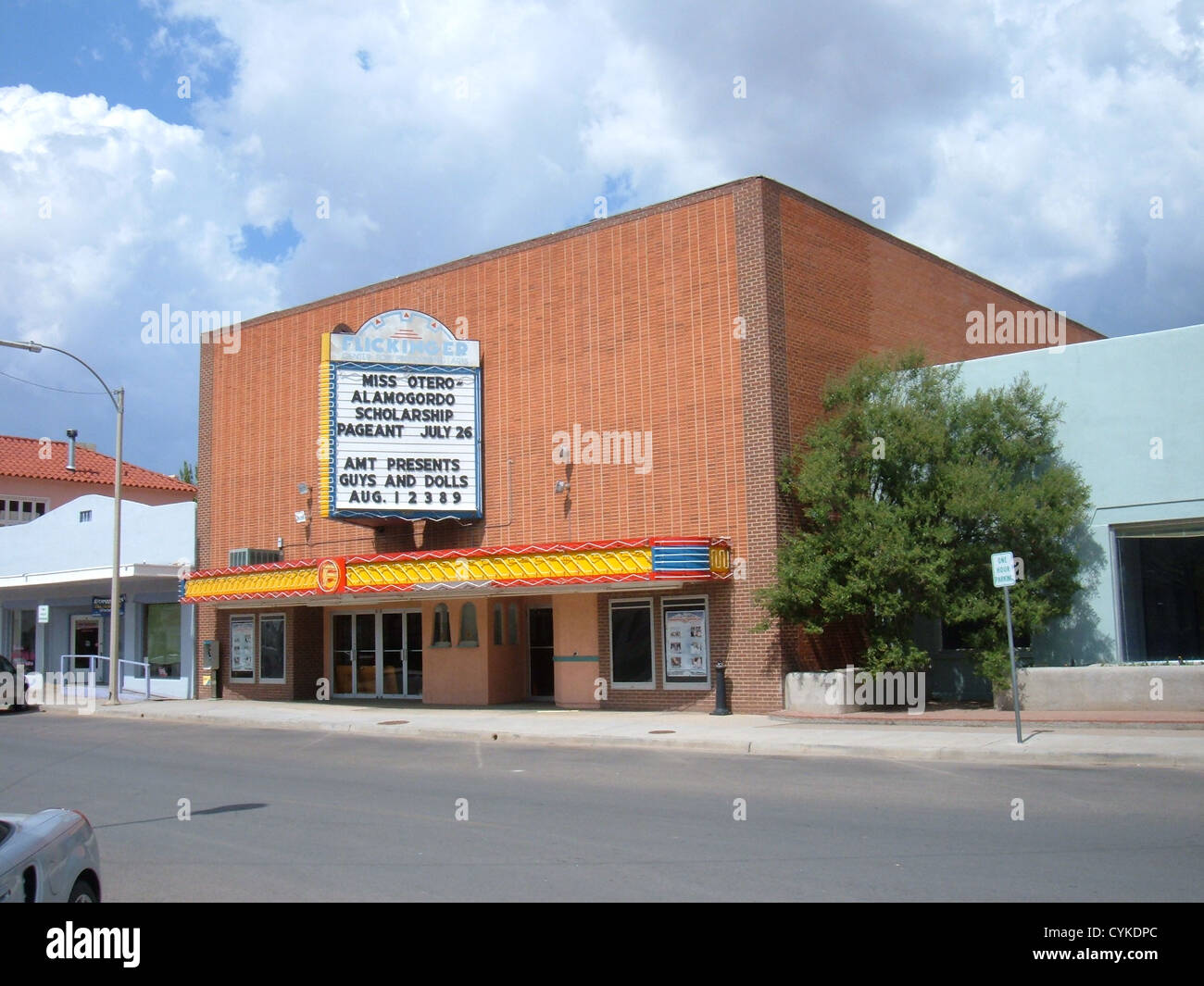 Flickinger Center for Performing Arts in Alamogordo, New Mexico, located at 1110 New York Avenue. - Stock Image
