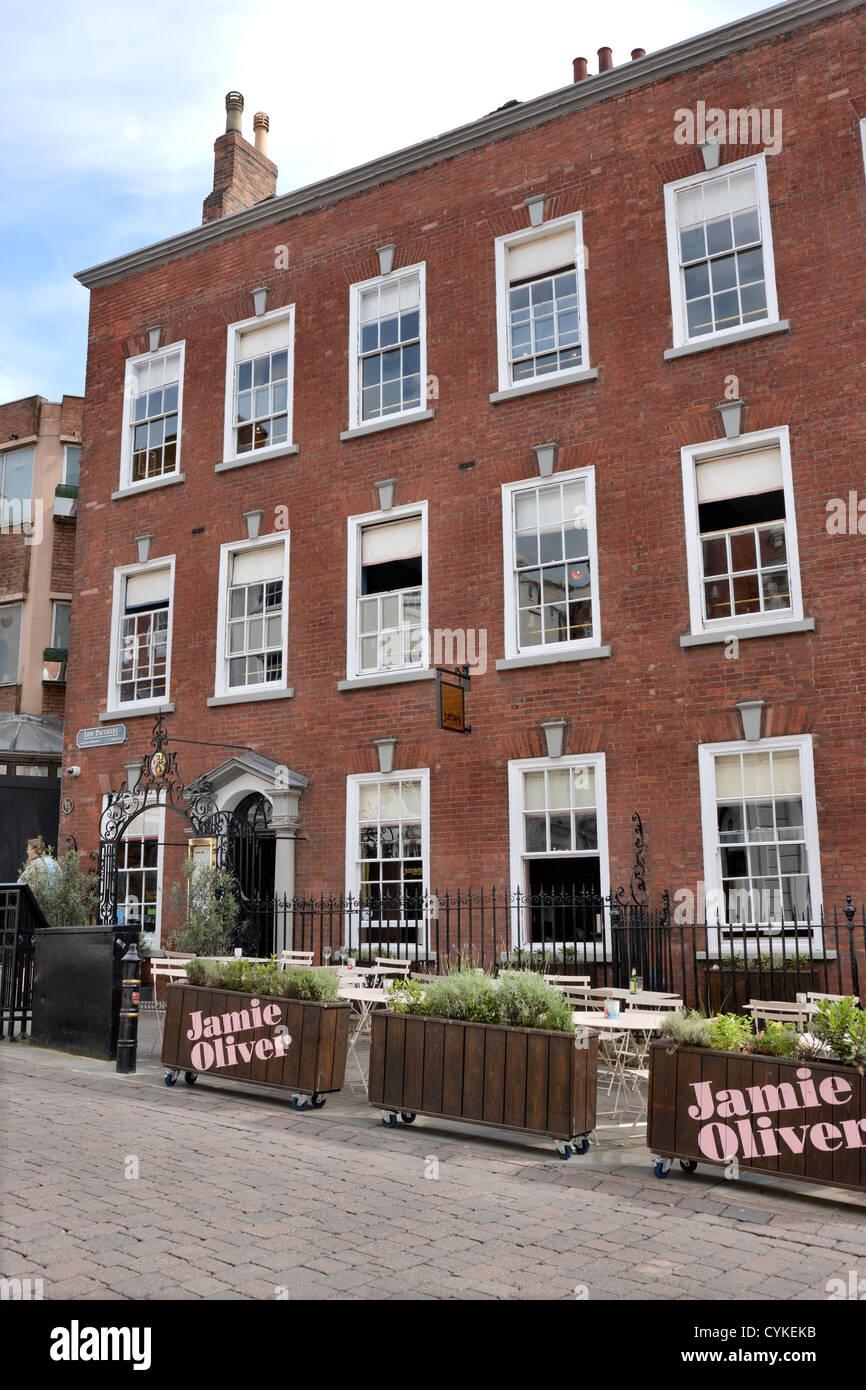 Jamie Oliver's Italian Restaurant, Nottingham City centre UK - Stock Image