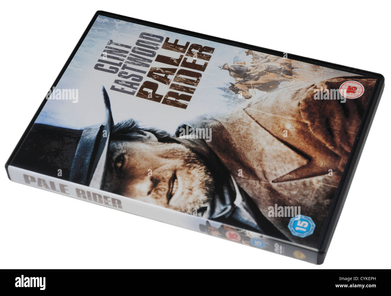 Pale Rider DVD with Clint Eastwood - Stock Image