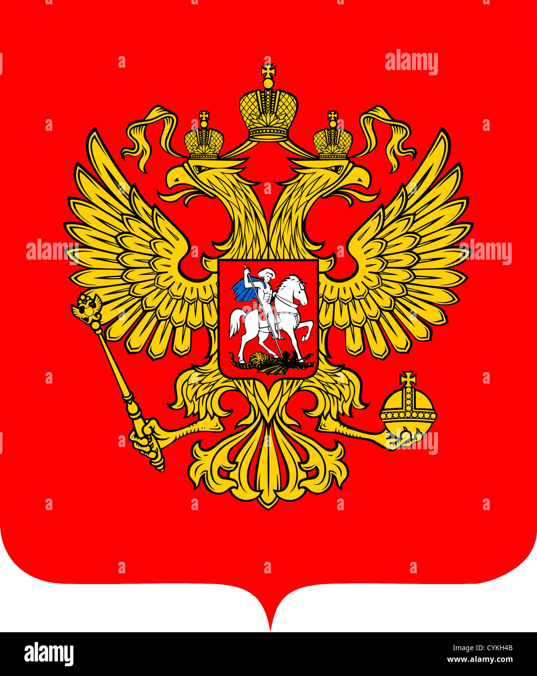 National coat of arms of the Russian Federation. - Stock Image