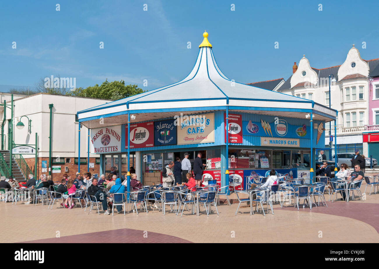 Wales, Barry Island, seaside resort, Marco's Cafe - Stock Image